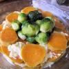 Thumbnail image for Brussel Sprout-Sweet Potato Au Gratin