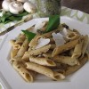 Thumbnail image for Spinch & Mushroom Pesto Sauce With Penne