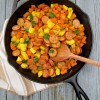 Thumbnail image for Indian Spiced Sweet Potato Kielbasa ONE Skillet Bake
