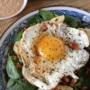 Thumbnail image for Sunny Side Up Spinach Salad with Artichoke Hearts, Pancetta Crisps & Creamy Creole Dressing {Dole~EatingWell Giveaway}