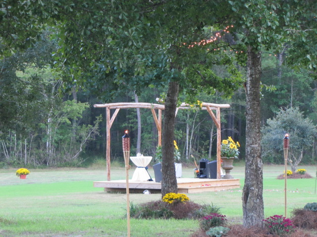 A one of a kind wedding arbor built with love by Jerry