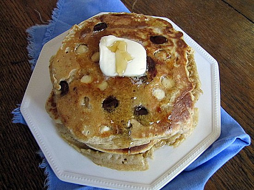 Post image for Whole Wheat Vanilla Chocolate Chip Pancakes