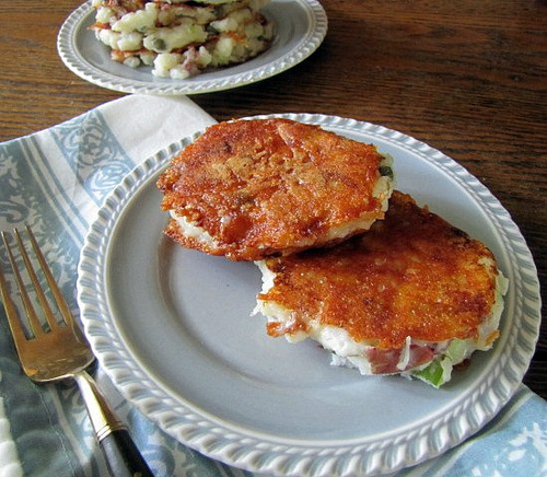 Post image for Parmesan Encrusted Potato Salad Cakes