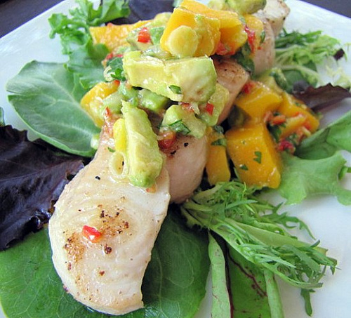 Post Image For Shark Steak With Mango Avocado Salsa