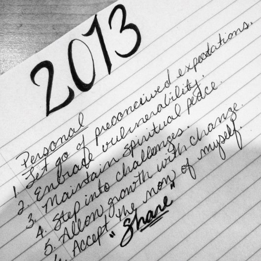 Post image for Personal Reflections for 2013