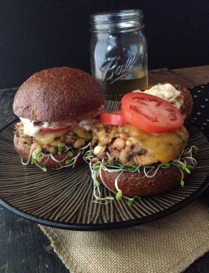 Post image for Blackeyed Pea & Wild Rice Veggie Burgers