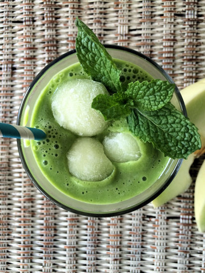 Fresh Honeydew Mint Smoothie - Stonyfield 2