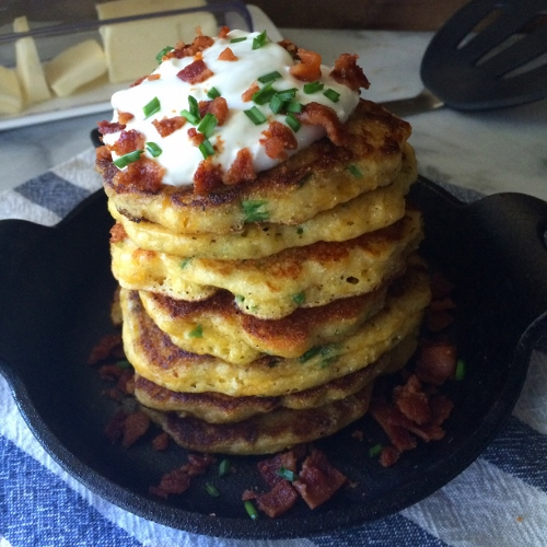 Cheddar, Chive and Cornmeal Pancakes - Yogurt  Culture 10